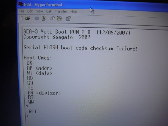 Seagate Hack - Yeti Debugger screen.JPG